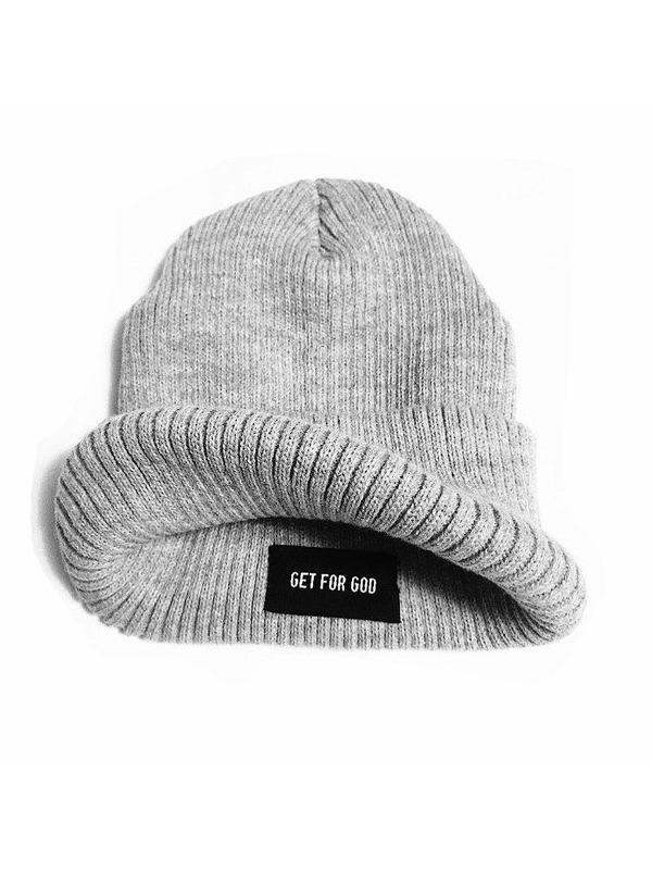 зимняя шапка Ribbed Beanie