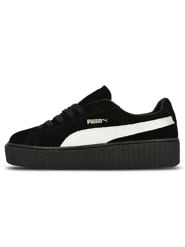 Fenty X Puma кеды Rihanna Suede Creeper Black/White