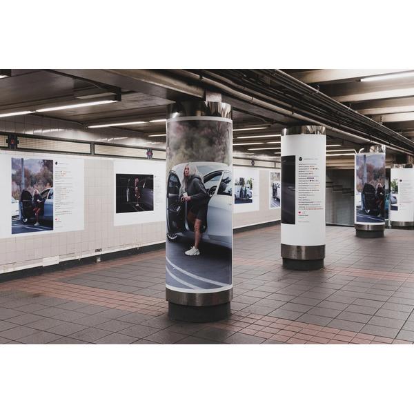 Реклама Yeezy Season 6 в Нью-Йоркском метрополитене